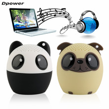 Dpower USB Mini Portable Cute Animal Wireless Bluetooth Speaker Panda Dog Shape Audio Player VTB-BM6 TF Card for Computer Mobile(China)