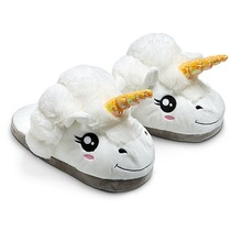 flock plush unicorn slippers women winter warm indoor furry fluffy fur flip flops shoes rihanna fuzzy home mules faux s137