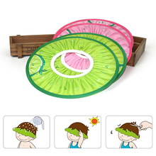 Brand New and High Quality Safe Baby Kids Wash Hair Cap Hat Shampoo Shower Bathing Bath Pink Green(China)