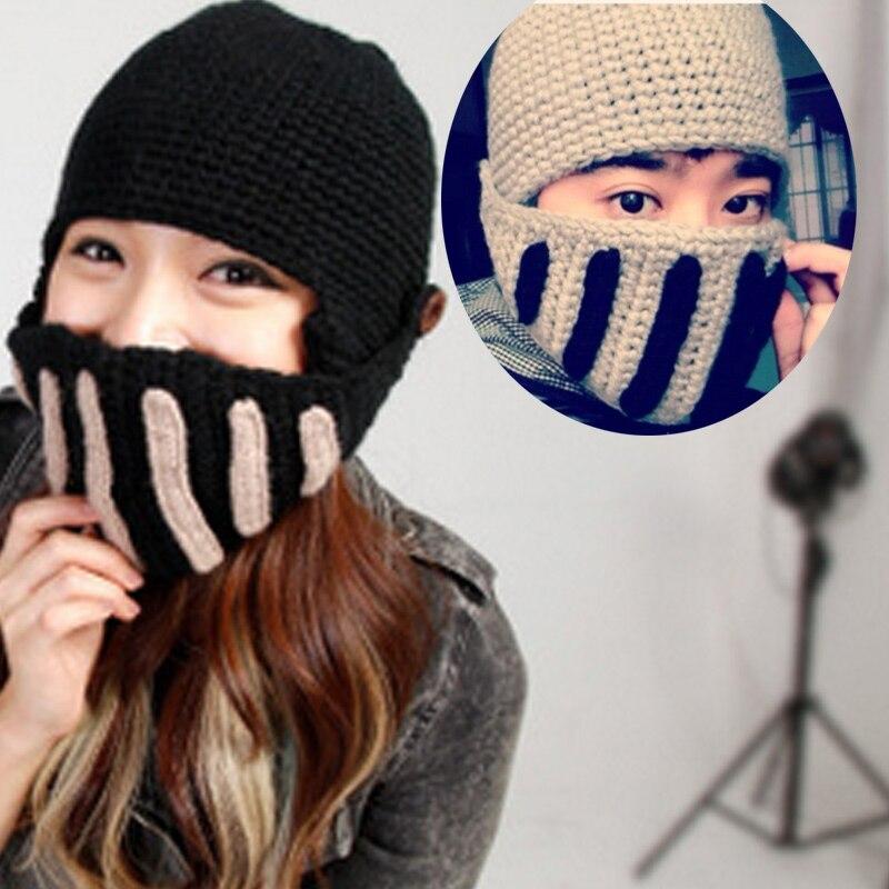 Hot Selling Fashion Winter Warm Unisex Roman Knight Helmet Caps Handmade Knitted Ski Hat Funny Party Mask Beanie H9Îäåæäà è àêñåññóàðû<br><br><br>Aliexpress