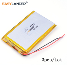 3pcs /Lot 4800mAh 895693 3.7V lithium Li ion polymer rechargeable battery can be customized wholesale MID pad laptop cell phone(China)