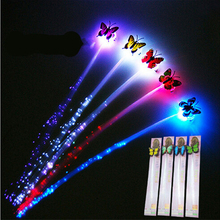 1 Pc!!Glow Blinking Hair Clip Flash LED Braid Show Party Decoration Headwear Colorful Luminous Braid Optical Fiber Wire Hairpin(China)