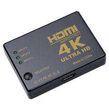 Kebidumei Hot Sale 4K*2K 3 input to 1 output HDMI switcher HDMI Hub Splitter TV Switcher Ultra HD for HDTV PC for PS3 Xbox360(China)