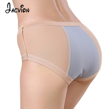 Buy Menstrual Period Underwear Women Cotton Solid Mid-Rise Briefs Female Seamless Lengthen Physiological Leakproof Panty Women Modal