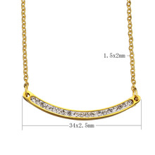 Stainless Steel Jewelry Necklace Rhinestone Clay Pave gold color oval chain for woman Sold Per Approx 19 Inch Strand