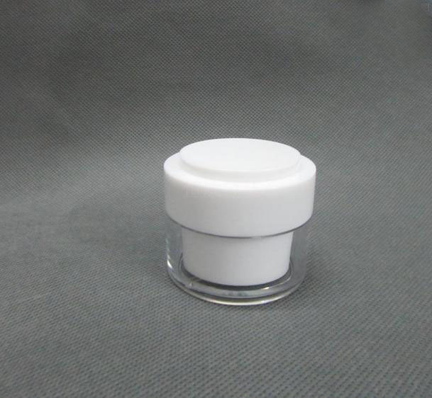 30g plastic acrylic white cream jar with white cover cosmetics packing bottle, Empty plastic jar ,suit bottle,Cream box / bottle<br>