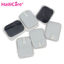 50 pcs Electrode Pads Massager Patches for Body Tens Acupuncture EMS Digital Therapy Slimming Machine 2mm connector 6*4cm(China)
