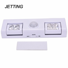 JETTING Wireless Motion Sensor Light for Night Light Battery Operated Step Light for Cabinet Staircase Workshop Basement Garage(China)