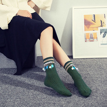 Handmade Drilling Drill Sequin Women's In Tube Cotton Thick Socks Korean Fashion Warm Knitting Casual Boneless Male Sox Gift box