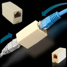 RJ45 CAT 5 5E Extender Plug Newtwork Ethernet Lan Cable Joiner Coupler Connector Adapter(China)