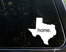 "Car Styling Home In Texas - 4-1/2"" x 5"" - Vinyl Die Cut Decal Bumper Sticker For Windows, Cars, Trucks, Laptops, Etc."