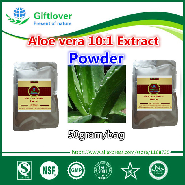 50g 100 Nature Aloe Vera 10 1 Extract Powder Colon Cleanse Detox
