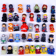 New 5pcs/lot Mini Spiderman Thor figures The Avengers Dolls Action toys Cap for pen gifts (free to Russia)