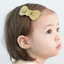 1 piece children baby girls Bow hair accessories clip Kids hairpins Glittle barrettes Bow headwear Bowknot hairpin(China)