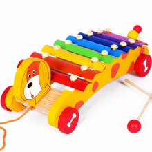 Free shipping toys for children Noise Maker toy, Toy Musical Instrument xylophone car, Drag animal hand and struck piano