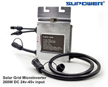 Waterproof Solar On Grid Tied Micro Inverter 250W SMG260W Microinverter input 24-45VDC(China)