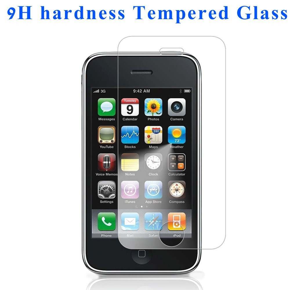 Premium Front Tempered Glass Film on Screen Protector Cover Pelicula For Apple iphone3 iphone3GS iphone 3G 3GS i Phone de vidro(China)