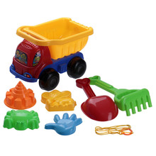 7pcs Brand New Funny Sand Dump Truck Spade Beach Play Bright Colored Parent-child Interaction Toy Set Outdoor Kids Sport Game