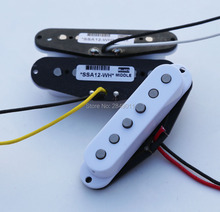 Vintage Single Coil Pickups for Strat/Tele Guitars, Braided Wiring, Alnico 5 Magnets, White