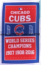 2016 Champions New Chicago Cubs World Series flags-3x5 Ft MLB Banners-Free shipping Flags 90cmX150cm