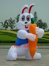 Big balloon inflatable running bugs holding an Carrot for Events Decorations(China)
