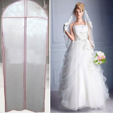 180*60cm Foldable Wedding Evening Dress Cover Storage Bag Bridal Wedding Garment Gown Dust Proof Cover(China)