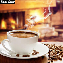 "Zhui Star Full Square Drill 5D DIY Diamond Painting ""Coffee Fragrance"" 3D Embroidery Cross Stitch Mosaic Set Home Decor Gift VIP(China)"