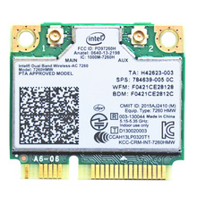 Intel wireless ac 7260 dual band 7260HMW intel 7260 ac ac7260 7260ac wireless card Wifi 8Bluetooth 4.0 Mini PCI-E Network card(China)