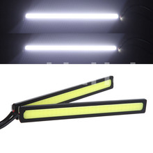 COB High Power Xenon White LED DRL Daytime Running Light Backup Interior Strip