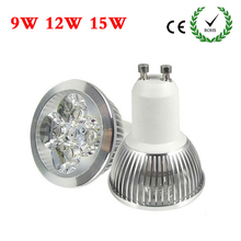 GU10 Spotlight CREE Led Lamp 9W 12W 15W GU10 LED Bulb Light 220V Dimmable Led Spot Light Spotlight Warm/Cool White LED downlight