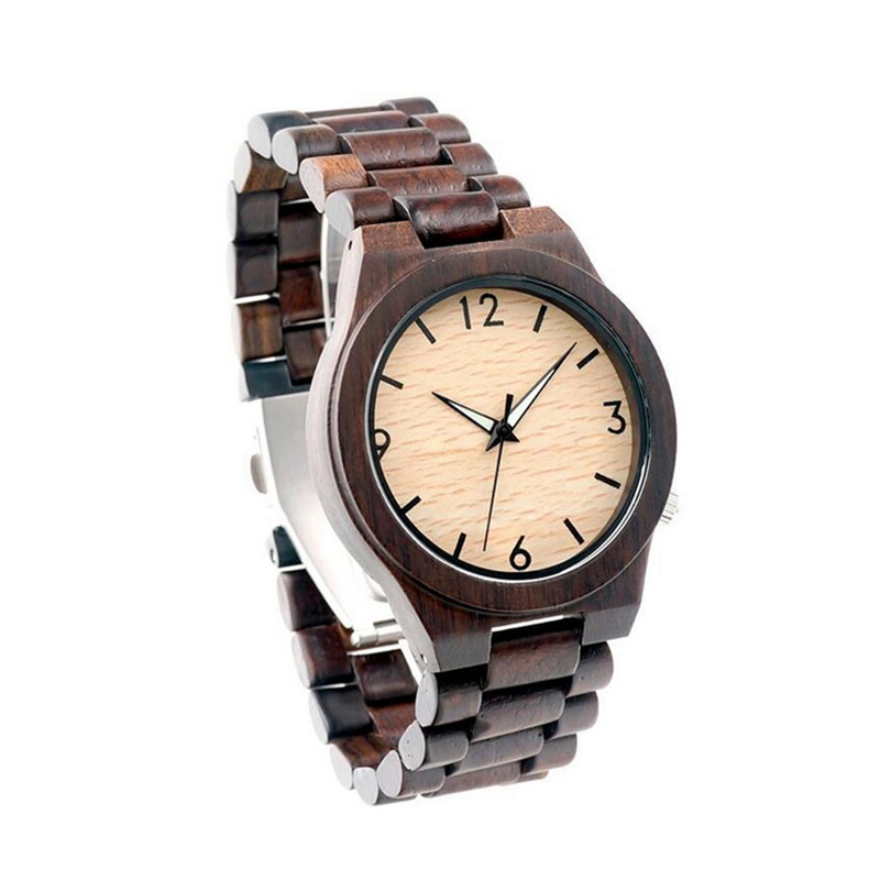 Fashion Natural Bamboo Wood Watch Casual Quartz Watches Clock Relogio Feminino Classic men watch relogio masculino Gift Box<br>