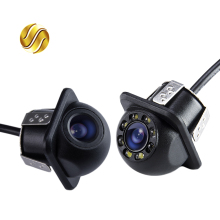 Mini Waterproof Car Parking Assistance Reversing Back Rear View Camera HD CCD Wire Car Rear View Camera With or Without LED