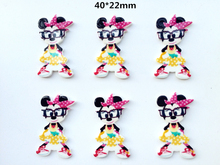 10pcs Resin Planar New Baby  Bow Flatback Resin Toddler Girl DIY Hairbow Crafts accessories