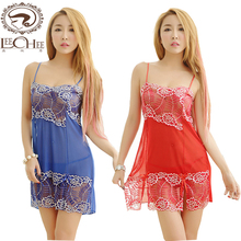 Buy Leechee Q746 Women sexy lingerie perspective lenceria porn nightie eroticism dress Lace babydoll erotic underwear Sexy costumes