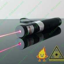 OXLASERS OX-R301 200mW  650nm focusable red laser pointer flashlight with safety key lock and 18650 battery  FREE SHIPPING