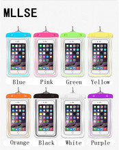 MLLSE High Quality Fluorescent Waterproof Cover Swim Pouch Case Meizu M5 Note