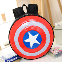 Backpack Fashion Captain America Hard Backpack Plastic Shield Travel Backpack Small School Bag Rucksack Mochila Femininas(China)