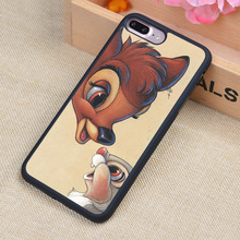 Bambi and Thumper Printed Soft TPU Skin Cell Phone Cases For iPhone 7 7 Plus 6 6S Plus 5 5S 5C SE 4 4S Back Cover Shell