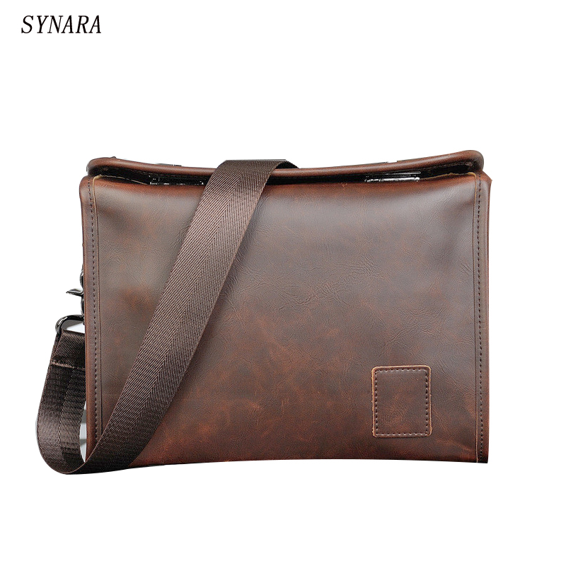 leather mens Briefcase men messenger bags Business  men bags hand shoulder bag travel bag man leather<br>