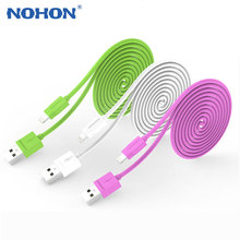 Original NOHON 8pin USB Cable For Apple iPhone 6 Plus 5 5S 5C iPad 4 Mini Air iPod Nano7 Touch 1.5M Fast Charger Data Sync Cable