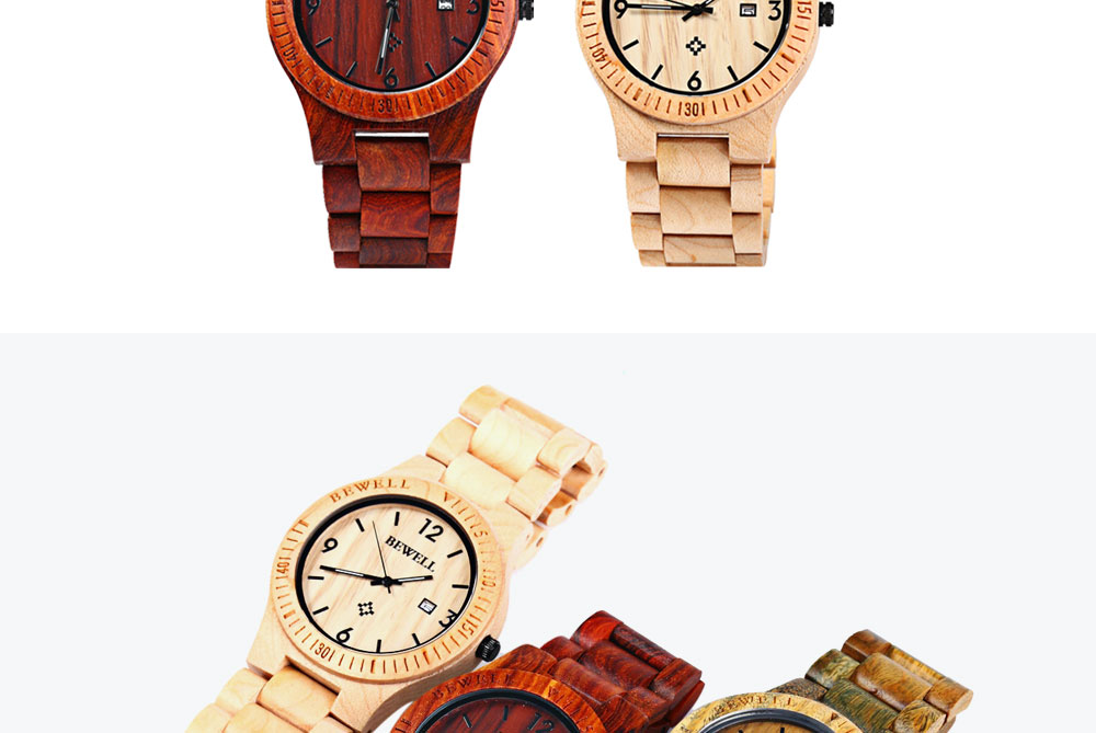 2017 BigBen Bewell Luxury Brand Wood Watch Men Analog Natural Quartz Movement Date Male Wristwatches Clock Relogio Masculino (14)