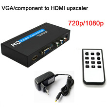 New VGA/component to HDMI upscaler 720p/1080p HD video converter adapter with Power Adapter