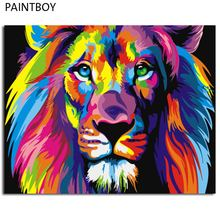 PAINTBOY DIY Oil Painting Framed Picture Painting By Numbers Of Animal Canvas Oil Painting Home Decoration 40*50cm(China)
