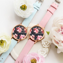 LVPAI Top Famous Watches Women Casual Leather Quartz Wristwatch Relogio Clock Ladies Dress Gift Watches P086 Rose gold dial 2017(China)