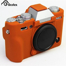 Ocotex New Hot Silicone Case For Fujifilm Fuji XT10 X-T10 Camera Bag Rubber Body Protective Cover Black Brown(China)