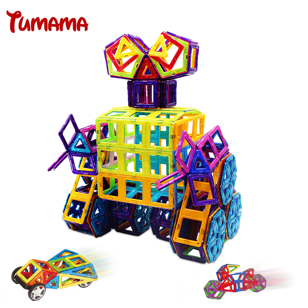 TUMAMA 24 Pieces Standard Magnetic Blocks Juguetes New Year Gift for Children High Quality Magnet Building Bricks<br><br>Aliexpress