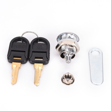 High Quality 1PCS Security Drawer Cam Lock Cylinder Door Mailbox Cabinet Tool Box Lock With 2 Keys Hardware Locks(China)