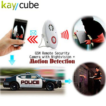 GSM Remote Security Camera with Nightvision + Email Motion Detection MMS Remote Home Security Monitor Cameras A8 Free Shipping(China)