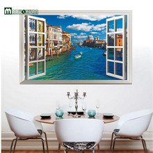 Maruoxuan Popular 3d Can Remove The Sitting Room The Bedroom Setting Wall Corridor Wall Stickers Off The Window Urban River
