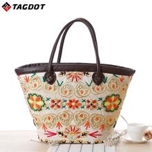 2017 New Vintage Women Handbag Fashion Shopping Tote Beach Bag Vintage Casual Bucket Straw Tote Bag Summer Shoulder Bag